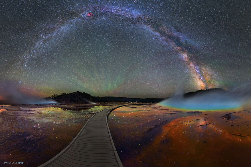 The Milky Way Over Yellowstone