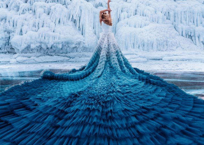 Stunning Fashion Photo Shoot Taken on Top of World's Deepest Lake