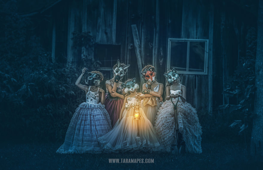 Animal Masks, Gowns, And An Abandoned House Equals Creepily Beautiful Photos